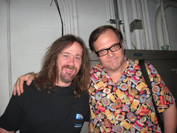 Bill Kopp and Dennis Diken backstage at the Charlotte Pop Fest