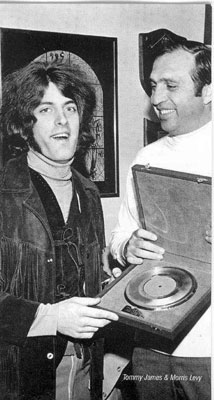 Tommy James and Morris Levy in 1969
