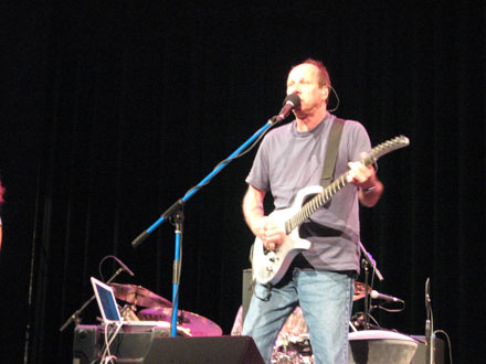 Adrian Belew at sound check