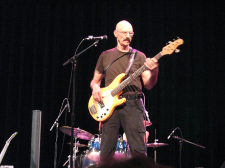 Tony Levin at sound check